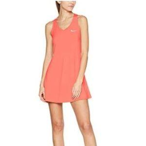 Nike Court Pure Tennis Dress Lava Glow, size XL